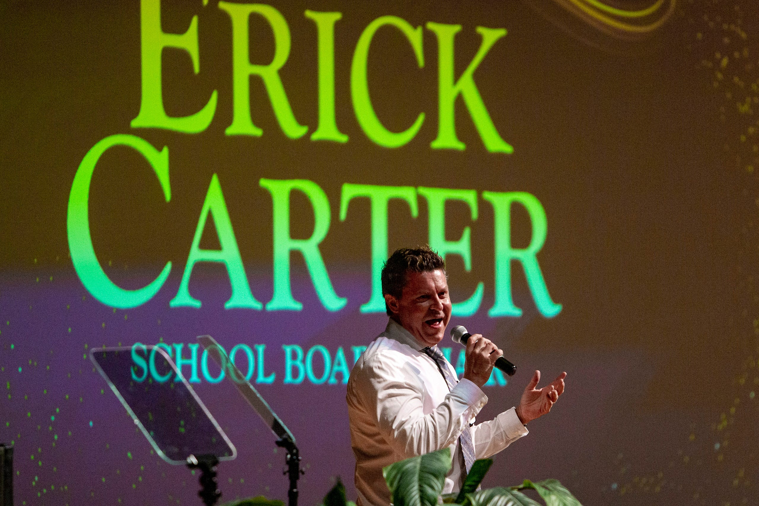 Erick Carter, Collier County School Board member, speaks during the 2021-22 Opening of Schools ceremony, Wednesday, Aug. 4, 2021, at Golden Gate High School.
