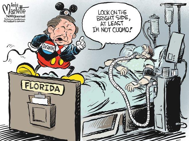 Marlette cartoon: COVID, Cuomo and Florida's cartoon governor!