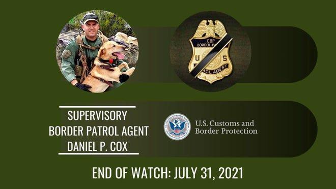 Border Patrol agent Daniel Cox was killed in a car crash on July 31, 2021.