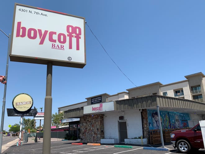 Boycott Bar is located along 7th Avenue in Phoenix's Melrose District.