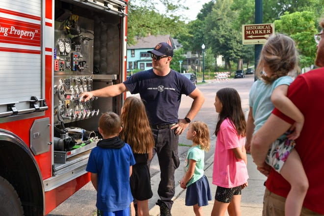 National Night Out event at the Cathedral Historic District in Sioux Falls Tuesday August 3, 2021.