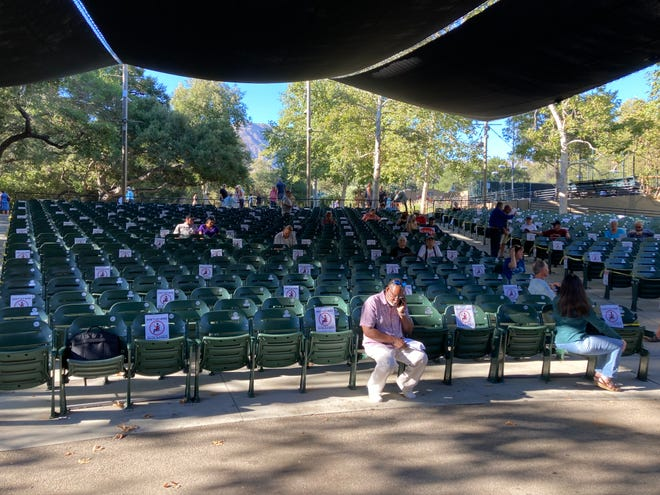 The Ojai City Council held a meeting Tuesday, Aug. 3, 2021 at Libbey Bowl in Ojai.