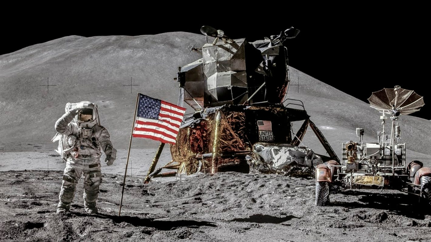 Remastered Apollo 15 photos reveal new details, just in time for mission's 50th anniversary - USA TODAY