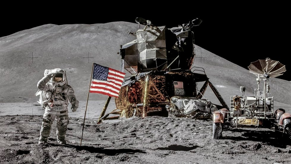 The Apollo 15 mission was the fourth mission to land men on the moon.