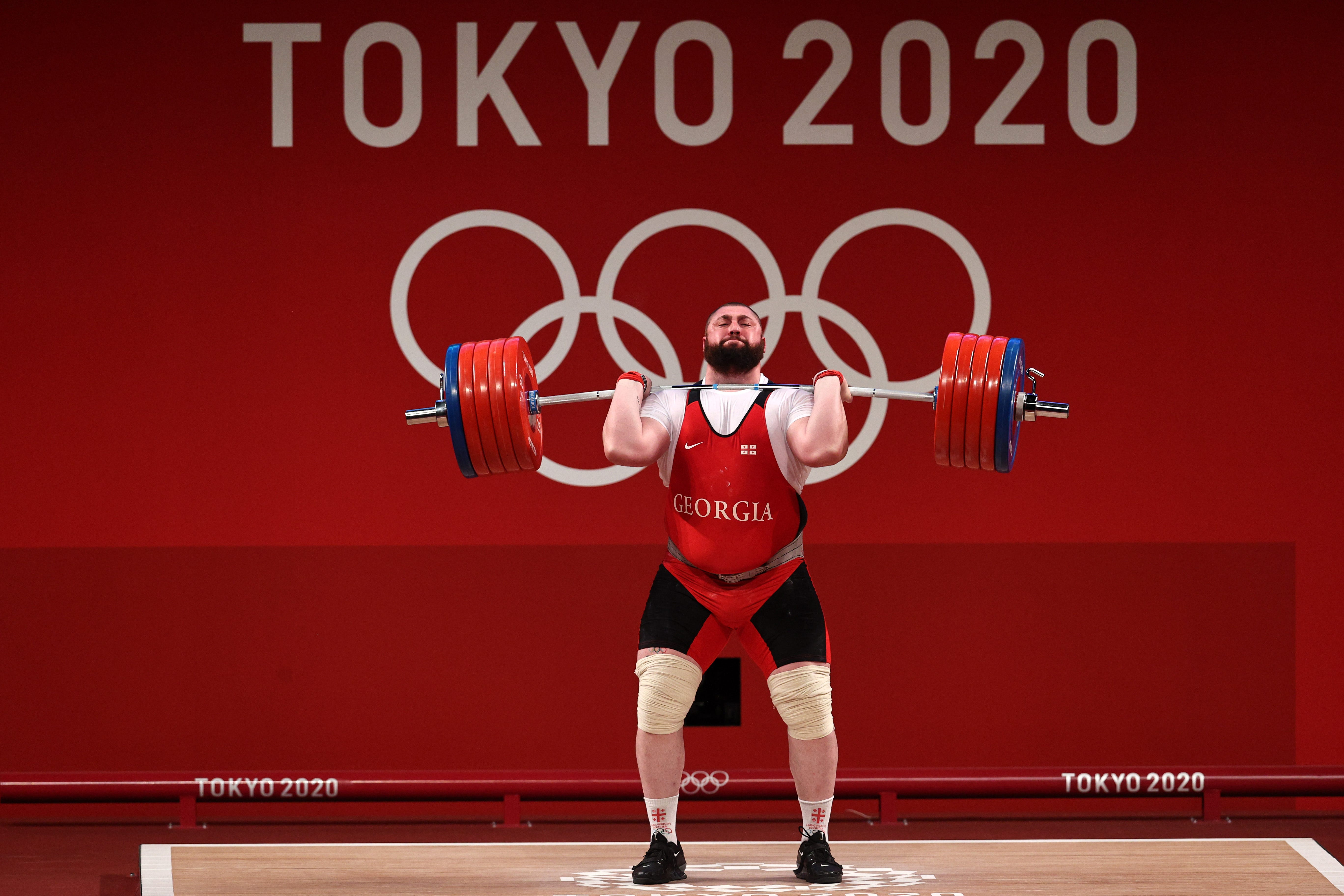 Georgian weightlifter breaks three world records, lifts nearly 1,100 pounds at Olympics