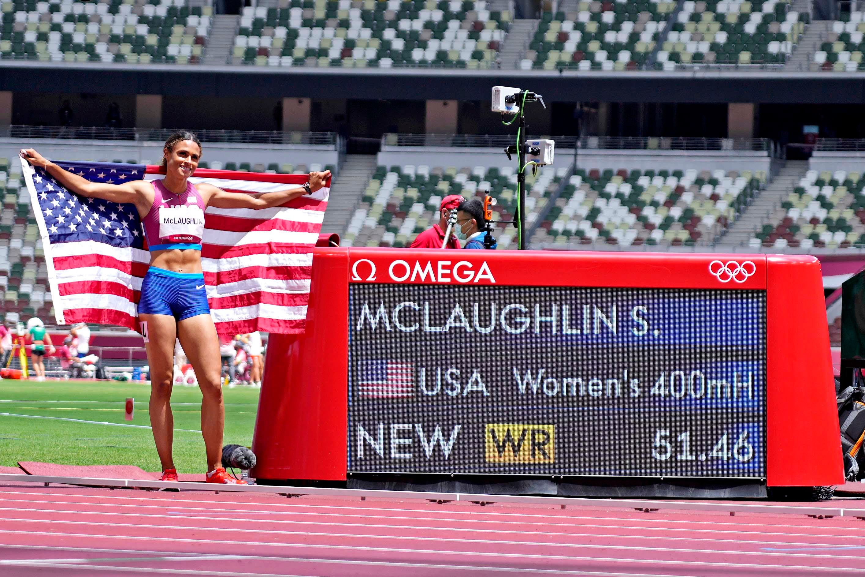 Chasing Gold: Americans win gold and silver in 400 hurdles; trio of sports reach semifinals