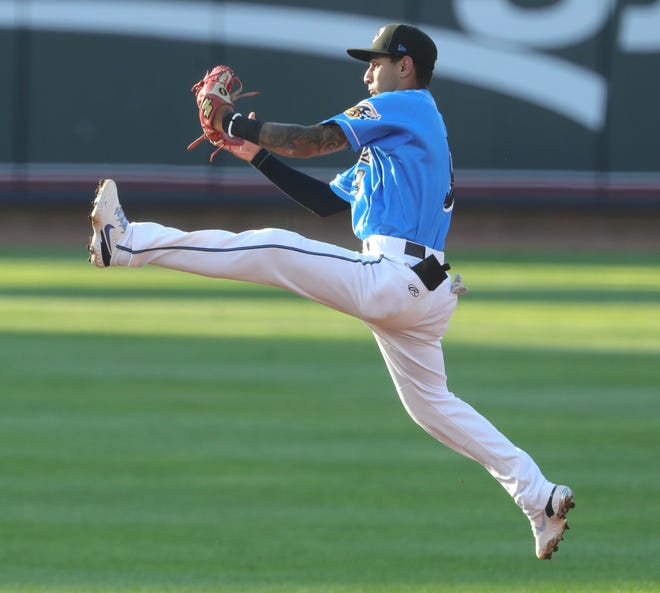 RubberDucks shortstop Brayan Rocchio has drawn comparisons to Francisco Lindor and he hasn't yet turned 21. Rocchio prefers to focus on improving every day with a goal of making it to the big leagues. [Phil Masturzo/Beacon Journal]