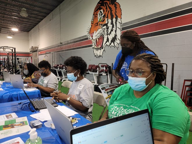 Community agencies worked together Tuesday to bring resources to students, families and community members in need of assistance with programs to help with healthcare, food and school supplies as well as assistance with rent and utilities.