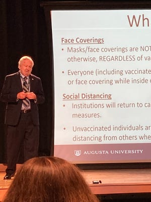 Augusta University President Brooks Keel said masks and vaccinations will not be required but will be strongly encouraged.