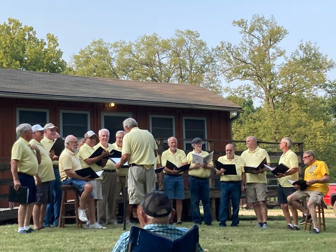 The Treblemakers Gospel Singers were the featured entertainment for the evening for the Summer Concert on the Greens, hosted by the Butler County Historical Society Home of the Kansas Oil Museum.