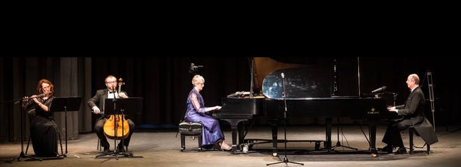 """""""Together Again,"""" a performance featuring Betty Preston Steele and Jamie Pauls, also included several selections with Terri Critten, flutist andZebediahYoko, cellist."""
