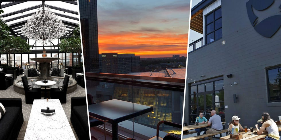 A few of the rooftop bars you can patron in central Ohio. From left, RH Rooftop, Goodale Station and BrewDog-Franklinton