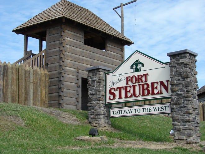 Entrance sign to Fort Steuben