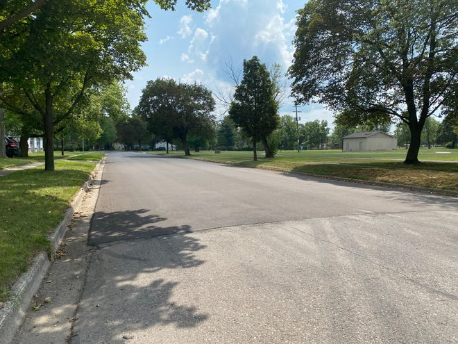South Union Street looking south from West Patterson Street in Tecumseh is pictured Thursday. South Union is one of the streets in Tecumseh that has been repaved this summer.