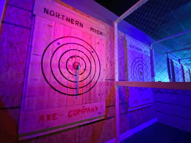 Northern Michigan Axe Company, an axe throwing range and venue, recently opened in downtown Petoskey.