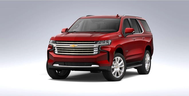 The 2021 Chevrolet Tahoe Z71 has a pushrod 5.3-liter V8 engine with 355 horsepower and 358 pound-feet of torque.