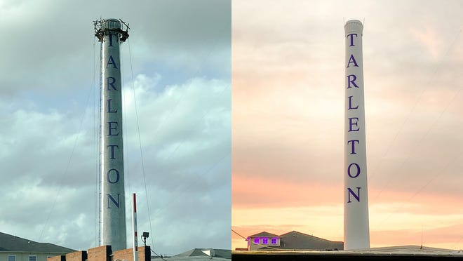 Tarleton State University's iconic smokestack is looking good as new after receiving a facelift earlier this summer. Following an inspection to ensure structural integrity, it was scraped, sanded, sealed and painted.