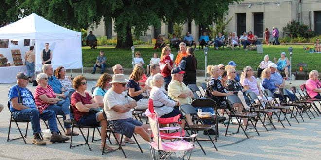 A good-sized crowd was on hand, enjoying the entertainment at the first Whippoorwill Artisan Festival held in downtown Spencer last Friday night.