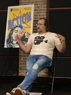 Brandon Chase Goldsmith speaks during a panel about the Fort Smith International Film Festival, which will be held Aug. 13-14 at four locations in the city.