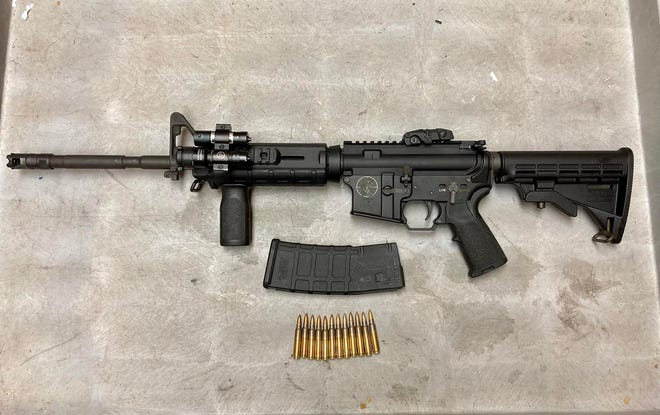 A Spikes Tactical Zombie SL15 rifle seized during the arrest of Antonio Dwight Boseman, Jr., charged with assault with a deadly weapon in a July 3 shooting on Atkinson Street that sent one to the hospital in critical condition.