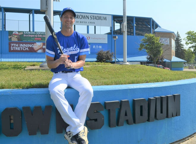 Brian Ricci, who was a member of the 2000 Lakeview High School state championship baseball team, is back in Battle Creek to play in the NABF World Series as a member of the South Bend Royals.