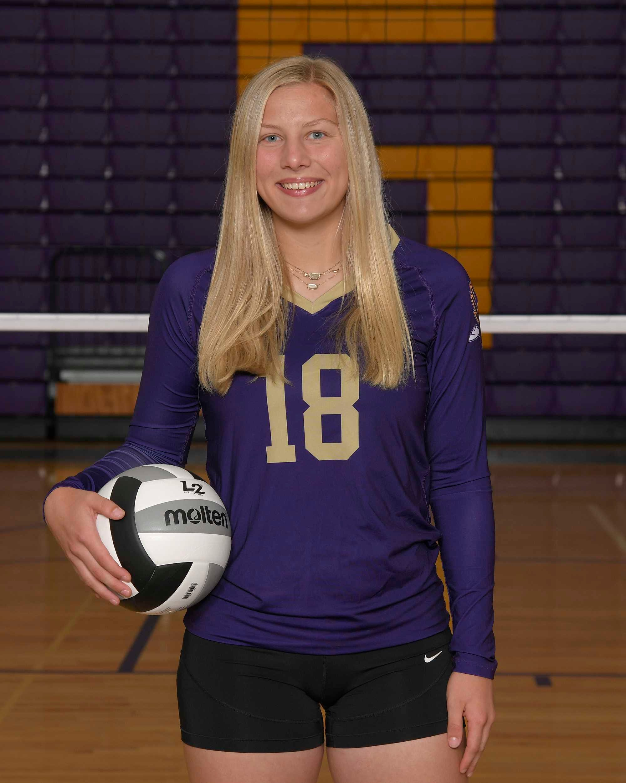 Olivia Baumann is one of the top volleyball players in the state.