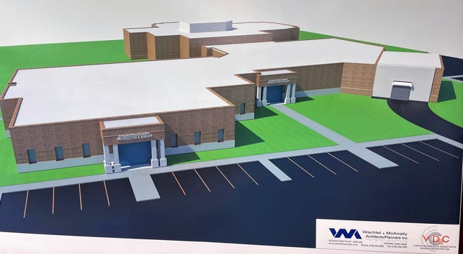 A rendering of the proposed new Coshocton Justice Center by Wachtel McAnally of Newark.
