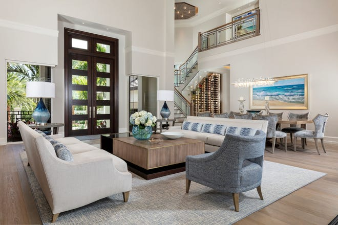 Collins DuPont Design Group's Bonita Bay project, recipient of a Silver Aurora Award for Best Custom Home 8,000 to 10,000 sq. ft. (Private Residence).