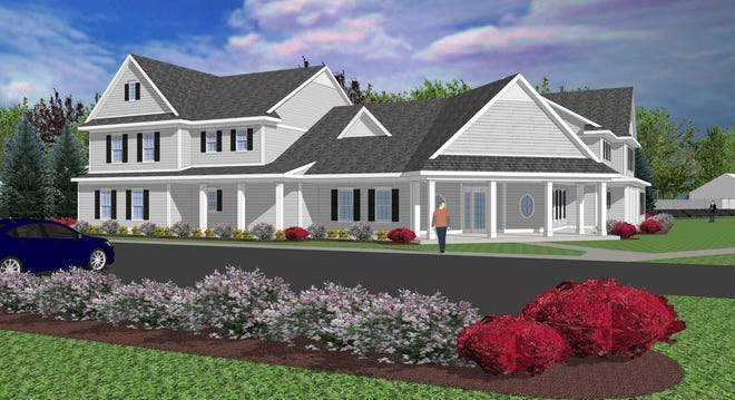 A new residential addiction recovery facility will be built at the Brighton Center for Recovery, as shown in this architectural rendering.