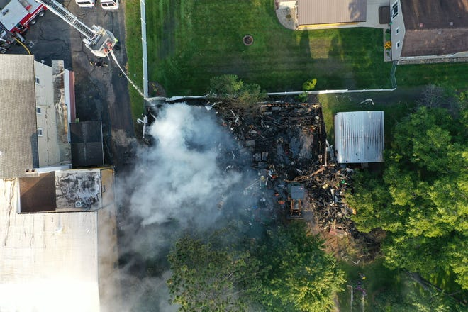 One person was killed and their house destroyed after a fire broke out in DeWitt Township Aug. 4, 2021.