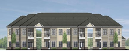 A conceptual rendering of what the new Harding Village Apartments from Wallick Communities will look like. The project is slated to begin sometime near late May or early June, said Vice President Jimmy McCune of Wallick Communities.