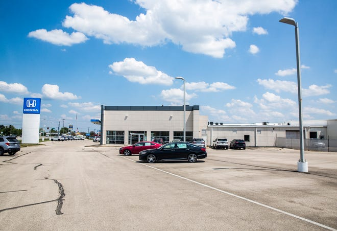 Victory Honda on McGalliard Road is among many car dealerships that have had difficulty replenishing their inventory thanks to supply chain problems.