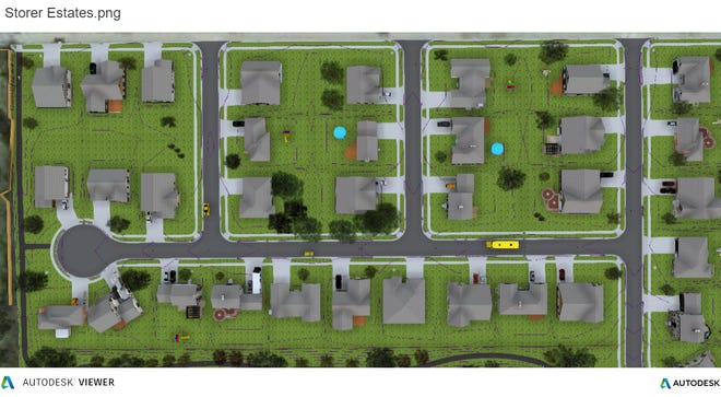 A rendering of the possible development at the former Storer Elementary site.