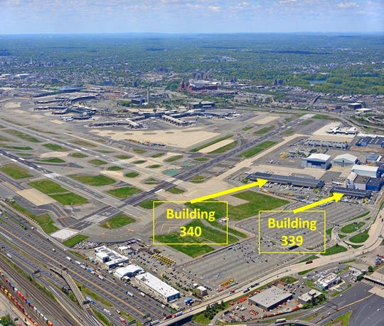 """Buildings 339 and 340 are expected to be leased by Amazon at Newark Liberty International Airport starting in November 2021 in a $432 million deal announced by the Port Authority of New York and New Jersey at their August board meeting. Amazon will renovate the buildings into """"state-of-the-art"""" facilities as part of its growth in air cargo."""
