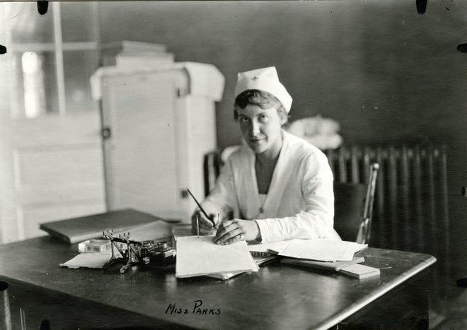 Nurse Parks of Fort Bayard Hospital, taken during the interwar years.