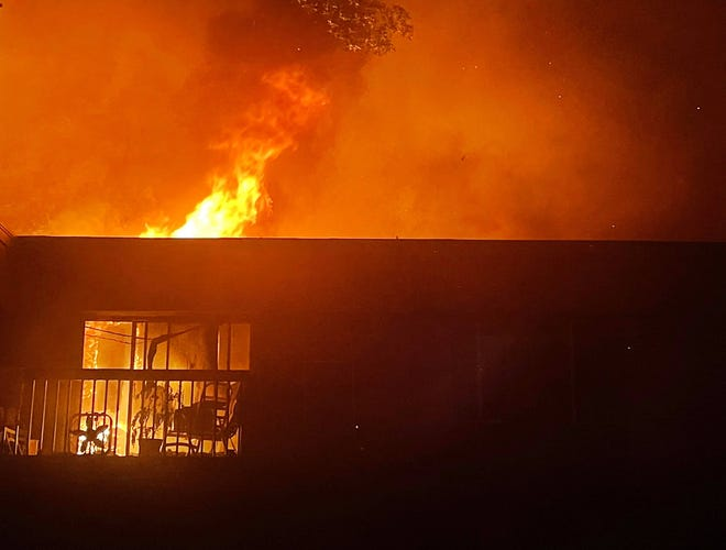 Fire destroyed three buildings at Westwood Village Apartments in Westland on Aug. 4.