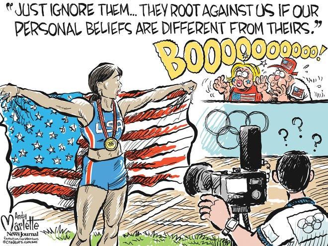 "Marlette cartoon: True ""patriots"" putting America First?"
