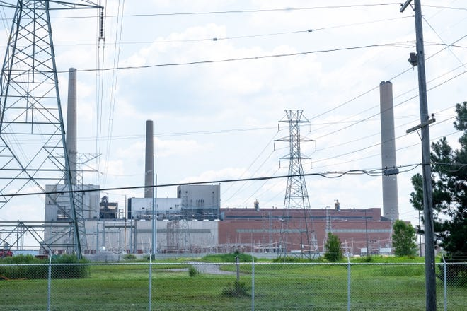First responders were called to the DTE power plant in East China Township Monday morning for a small fire.
