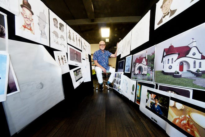 """Oscar-award winner William Joyce will have an exhibit of the creation process for his new short film, """"Mr. Spam Gets a New Hat"""" at artspace."""