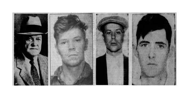 From left, Warden Eugene Reiley, Floyd Lindberg, Phil Ray and Harold Carrier.