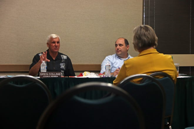 City councilmembers listened to interviewees' responses during an Aug. 4 special meeting at the Visalia Convention Center.