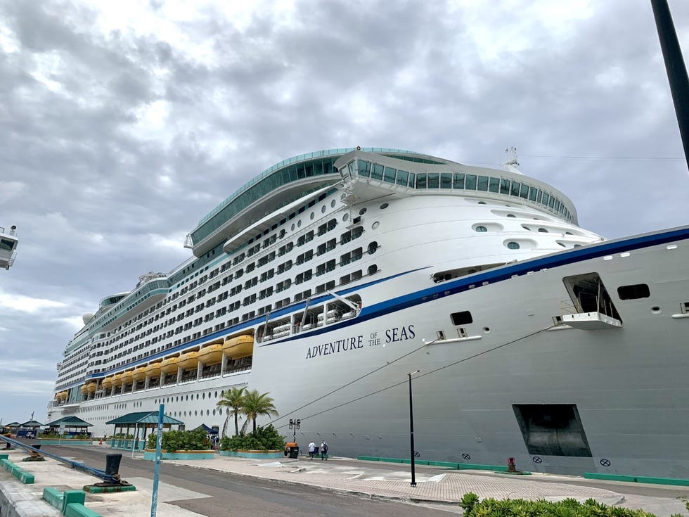 Royal Caribbean's Adventure of the Seas in port at Nassau, The Bahamas.