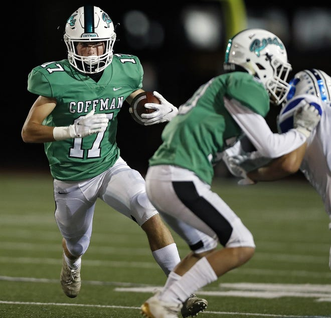 Coffman's Alex Diehl returns for his senior season after catching 15 passes for 119 yards a year ago.