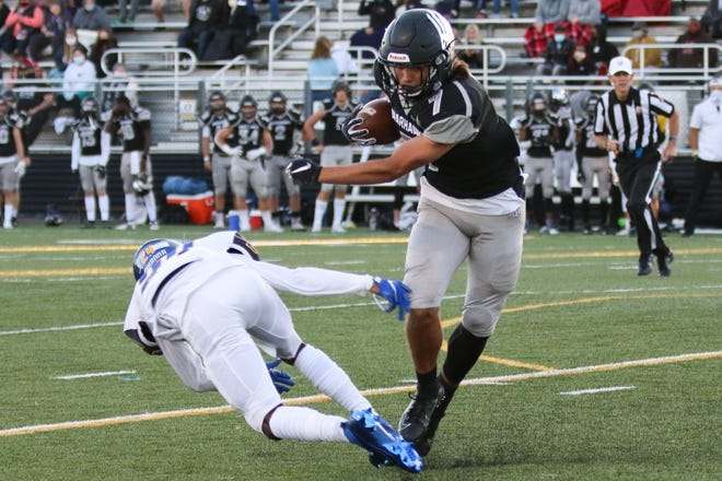 Senior Jason Robertson is a key player for Westerville Central at wide receiver and linebacker.