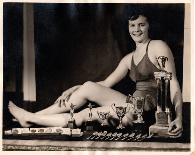 Joyce Court, who now lives in Monroe, was a Canadian national champion in the backstroke and swam in the 1948 Olympic Games. The 90-year-old loves following the Olympics.