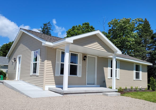 One of the houses Habitat for Humanity has on Luce Street in Oden.