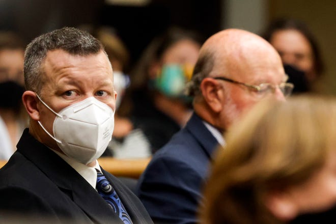 Paul Flores looks on at the second day of his preliminary hearing Aug. 3, 2021, over the murder of Cal Poly student Kristin Smart.