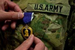 August 7 is Purple Heart Day, which commemorates men and women who wounded or killed by an opposing armed forces during military service. (U.S. Army Photo)