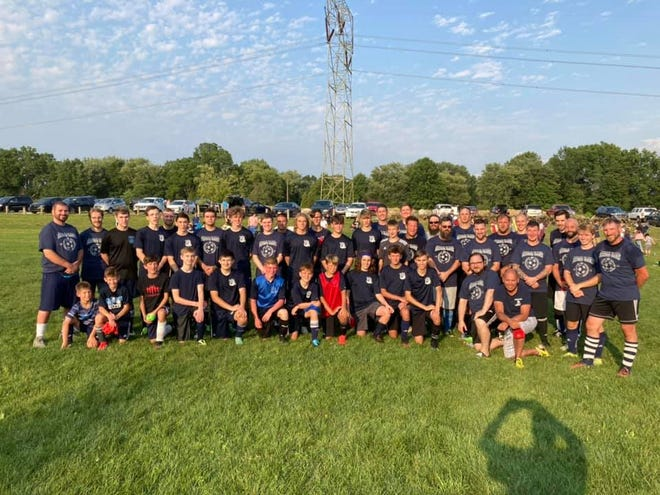 """The 20th annual Rootstown High School/Ryan Streem Memorial Alumni Soccer Game was played on Saturday, July 31 at the Rootstown Community Field. The game serves as the primary fundraiser for the Ryan Streem Memorial Scholarship, which has donated more than $45,000 to graduating Rootstown High School seniors. The alumni game featured even-year graduation years vs. odd-year graduation years. The """"evens"""" winning the game 8-3, with goals scored by Russell Boland (3), Tom Nader (2), Neil Luketic, Daniel Luketic and Adam Gharky."""