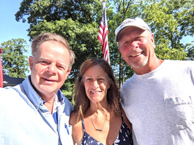 From left are Bill Childers, Susan (Childers) Schroeder and Jim Schroeder. Susan's son, Jim, was part of the American rugby team that played in this year's Olympics.